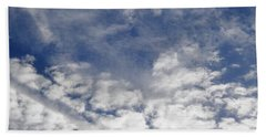 Bath Towel featuring the photograph Beautiful Cloud Contrast by Belinda Lee