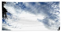 Hand Towel featuring the photograph Beautiful Cloudy Morning by Belinda Lee