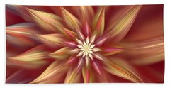 Beautiful Dahlia Abstract Bath Towel