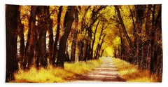 Beautiful Fall Day In Nebraska Hand Towel