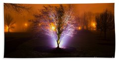 Beautiful Foggy Night 2 Hand Towel