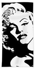 Beautiful Marilyn Monroe Original Acrylic Painting Bath Towel by Georgeta  Blanaru