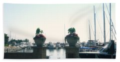 Hand Towel featuring the photograph Beautiful Marina Entrance by Kay Novy