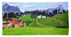 Bath Towel featuring the painting Beautiful Norway by Magdalena Frohnsdorff