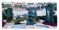 Hand Towel featuring the photograph Beautiful Park In Lakeland by Belinda Lee