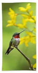 Beautiful Summer Hummer Hand Towel