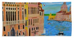 Bath Towel featuring the painting Beautiful Venice by Magdalena Frohnsdorff
