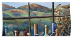 Bath Towel featuring the painting Beautiful View by Donna Tuten