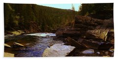 Beautiful Yak River Montana Hand Towel by Jeff Swan