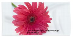 Beauty And Simplicity Hand Towel