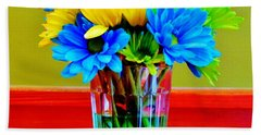 Beauty In A Vase Bath Towel by Cynthia Guinn