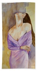 Beauty In Thought Hand Towel by Vicki  Housel