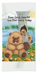 Beaver Hand Towel by Jerry Ruffin
