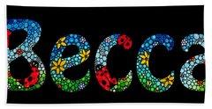 Becca - Customized Name Art Hand Towel
