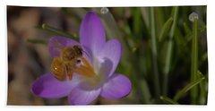Bee And Crocus 3 Hand Towel