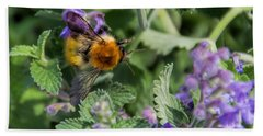 Bath Towel featuring the photograph Bee Too by David Gleeson