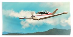 Beechcraft Bonanza V Tail Red Bath Towel