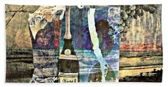 Bath Towel featuring the mixed media Beer On Tap by Ally  White