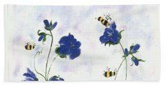Bees At Lunch Time Hand Towel by Francine Heykoop