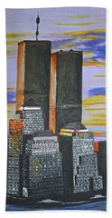Bath Towel featuring the painting Before The Fall by Donna Blossom
