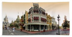 Before The Gates Open Magic Kingdom Main Street. Bath Towel