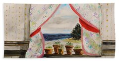 Hand Towel featuring the painting Beginnings by John Williams