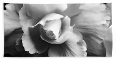 Begonia Flower Monochrome Bath Towel