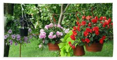 Begonias On Line Bath Towel