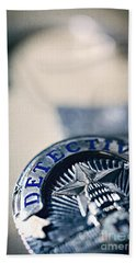 Hand Towel featuring the photograph Behind The Badge by Trish Mistric