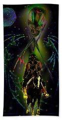 Bath Towel featuring the digital art Behold The Pale Rider  by Hartmut Jager
