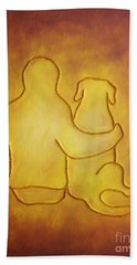 Being There 2 - Dog And Friend Bath Towel