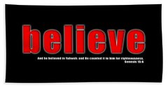 Believe Hand Towel