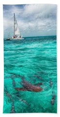 Belize Turquoise Shark N Sail  Hand Towel