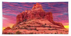Bell Rock Sunset Hand Towel