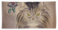 Belle With Silver Bells Hand Towel by Victoria Lakes