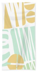 Bento 1- Abstract Shape Painting Hand Towel