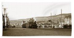 Berkeley California Train Station Circa 1902 Bath Towel