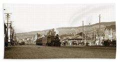 Berkeley California Train Station Circa 1902 Hand Towel
