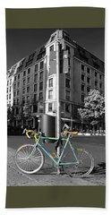 Berlin Street View With Bianchi Bike Hand Towel