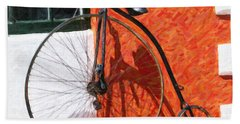 Bath Towel featuring the photograph Bermuda Antique Bicycle by Verena Matthew