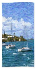 Hand Towel featuring the photograph Bermuda Sailboats by Verena Matthew