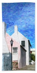 Hand Towel featuring the photograph Bermuda Side Street by Verena Matthew