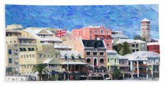 Hand Towel featuring the photograph Bermuda Waterfront by Verena Matthew