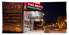 Bernies Fine Meats Signage Bath Towel