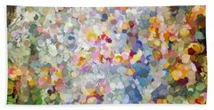 Berries Around The Tree - Abstract Art Hand Towel by Kerri Farley