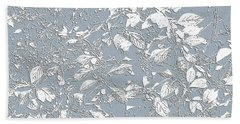 Berry Branch Blue Bath Towel by Ellen O'Reilly