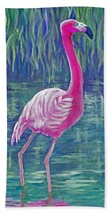 Beta's Flamingo Hand Towel