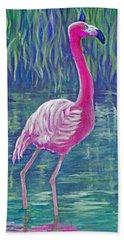 Beta's Flamingo Bath Towel
