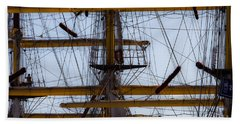 Between Masts And Ropes Hand Towel