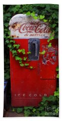 Austin Texas - Coca Cola Vending Machine - Luther Fine Art Hand Towel